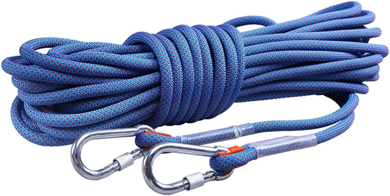 10 12MM Outdoor Climbing Cave Camping Safety Rescue WearResistant AntiSlip Rope blueee,blueee30m12mm