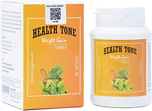 Health Tone Weight Gain Capsules 100 Pure Herbal 90 capsules 500mg