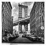 Tapete selbstklebend - Manhattan Bridge in America Fototapete Quadrat 288x288 cm
