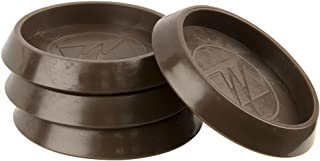Furniture Caster Cups with Smooth Vinyl Bottom for Carpet...