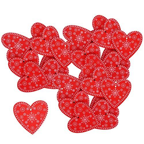 Bicaquu 110Pcs Anhänger, Holzschmuck Weihnachtsdekoration, langlebige Dekoration Ornament für DIY Christma