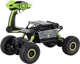 deAO RC Coche TodoTerreno Rock Crawler 4x4 a Control Remoto - 1:18 Rastreador de Roca 2.4GHz Sync System modo Multi Jugador (Verde)
