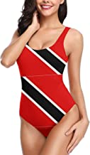 Flag of Trinidad and Tobago Print One Piece Swimsuit Women Girl Low Back Bathing Suits Beach Swimwear S-XL