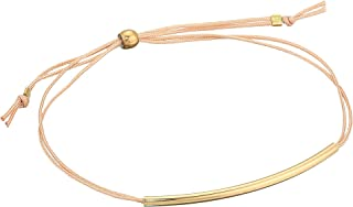 Dogeared Womens The Balance Bracelet, Thin Tube On Cord