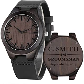 Best groomsmen engraved watches Reviews
