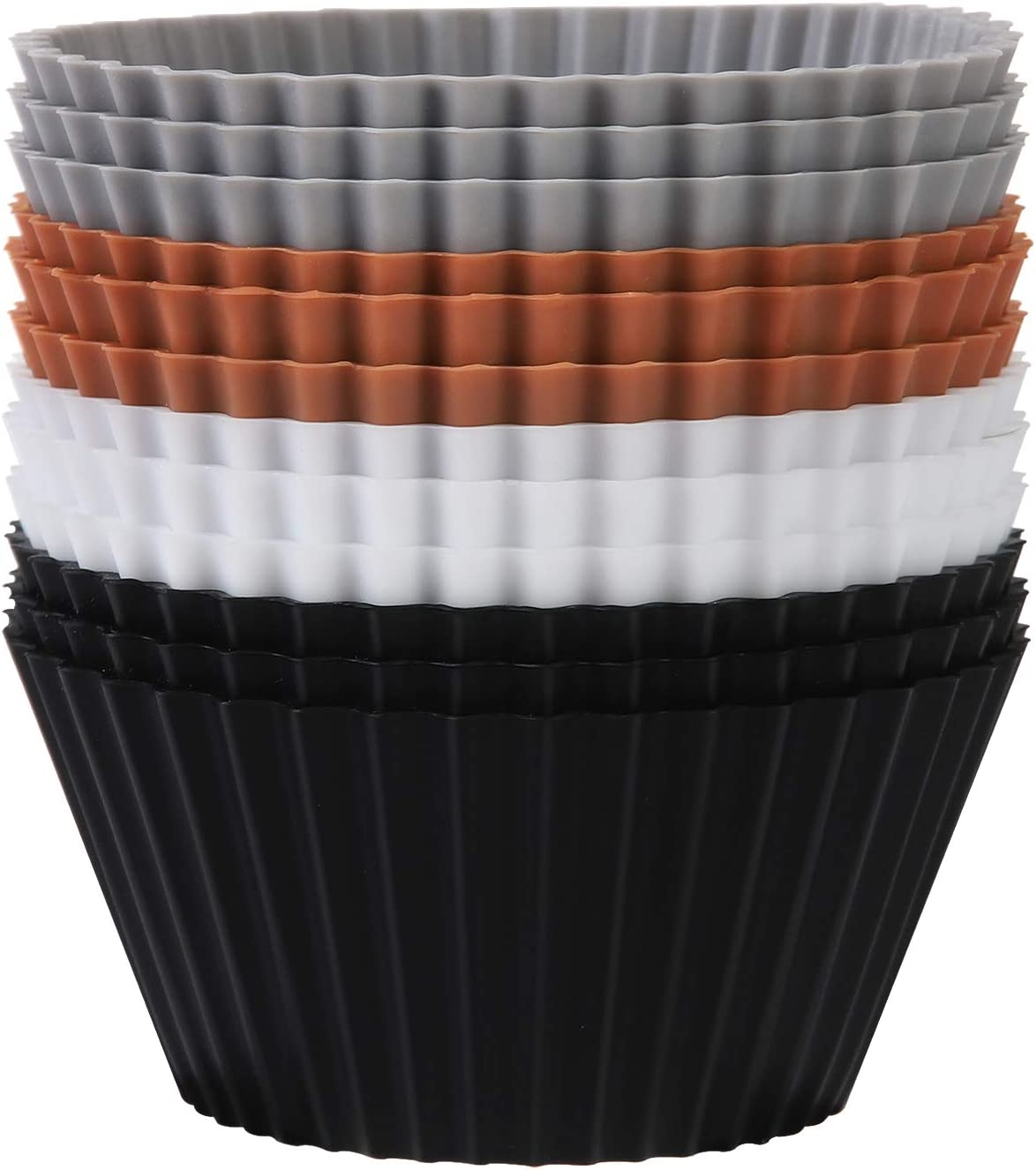SARTNP Cheap super special price Max 49% OFF Silicone Cupcake Baking Cups 12 Pack Heavy Duty
