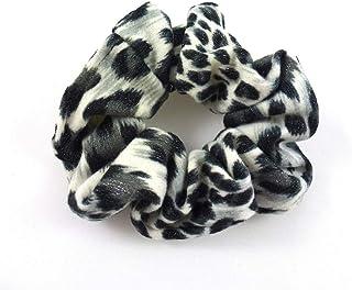 Rougecaramel Opaska na włosy z nadrukiem, wzór leoparda, z cekinami, czarna