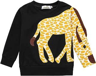 WOCACHI Toddler Kids Boys Shirts, Long Sleeve Dinosaur Tops Crewneck Pullover