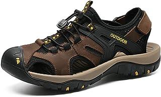 Veslexth للرجال رياضية المشي صنادل صياد الصيف الرياضة خارج المنزل صندل أحذية قابل للتعديل البرمائية عارضة شاطئ صندل