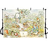 VV Photography Backdrop 7x5ft Peter Rabbit Backdrop for Kids Birthday Party Cartoon Children Photography Background Cloth Customized