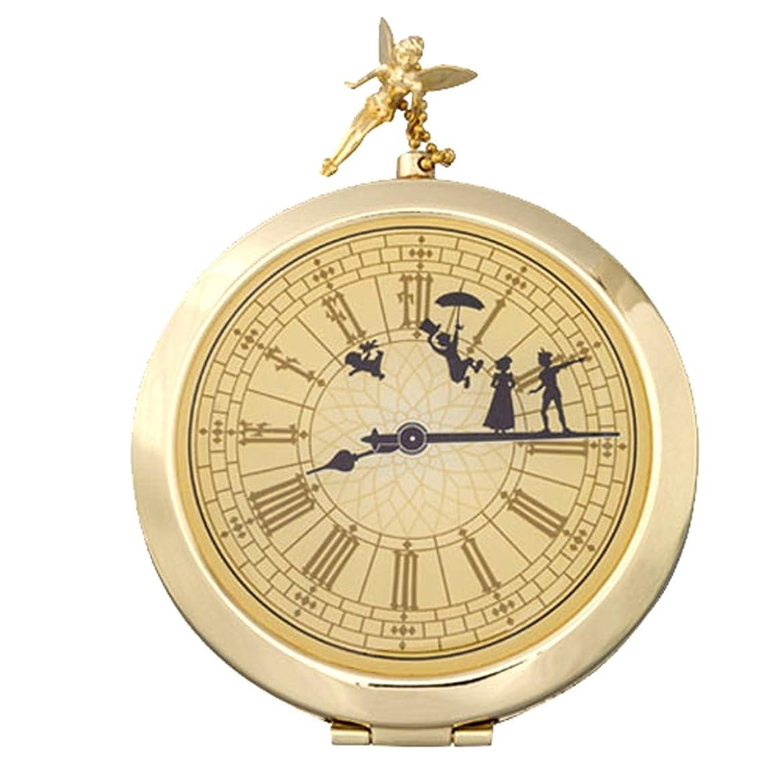 ワンダー可決パウダー12/1~ ピーターパン コンパクト 式 ミラー 鏡 時計型 アンティーク ディズニー ティンカーベル 他 メイク 用品 ( ディズニーランド限定 )