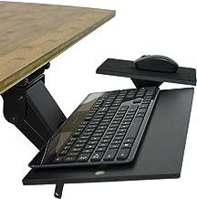 KT1 Ergonomic Under-Desk Computer Keyboard Tray. Adjustable height angle negative tilt sliding pull out drawer platform swivels 360 slides office products furniture desktop accessories with mouse pad
