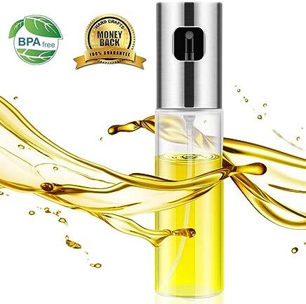 Oil Sprayer- Olive Oil Sprayer for Cooking,Spray Bottle for Oil Versatile Glass Spray Olive Oil Bottle Vinegar Bottle Glass Bottle for Cooking,Baking,Roasting,Grilling