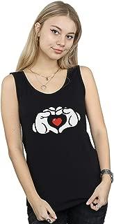 Disney Women's Mickey Mouse Heart Hands Tank Top