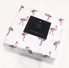 Cynthia Rowley Girls Floral Flamingo Twin Sheet Set   100% Soft and Sturdy Microfiber