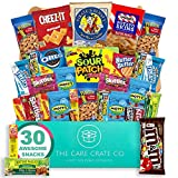 The Care Crate Co. - Small Snack Box Care Package - Chips, Candy, Peanuts, Popcorn, Cookies, Gummy Snacks, Chocolates (31 Variety Pack)