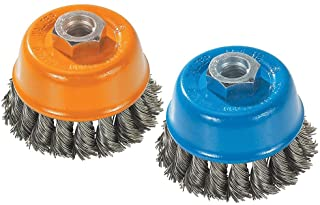 Walter 13F354 Wire Cup Brush - 3 in. Carbon Steel Knot Twisted Wire Cup - Power Brush with Threaded Hole. Surface Finishin...