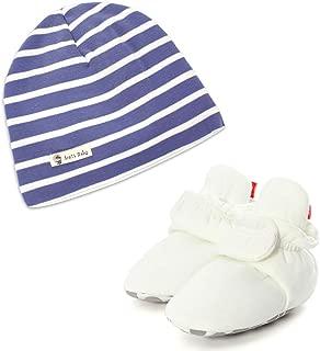 ESTAMICO Baby Crib Bootie and Beanie Hat 2 Piece Set
