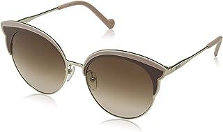 ليو جو نظارات شمسية نصف إطار للنساء، بني