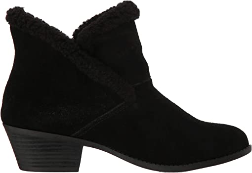 Black Oiled Suede/Shearling