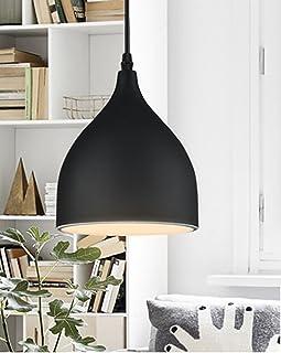 Modern Ceiling Hanging Lighting Metal Chandelier Droplight Vintage Pendant Light E27 Base Shade Lamp Dining Room Living Ro...