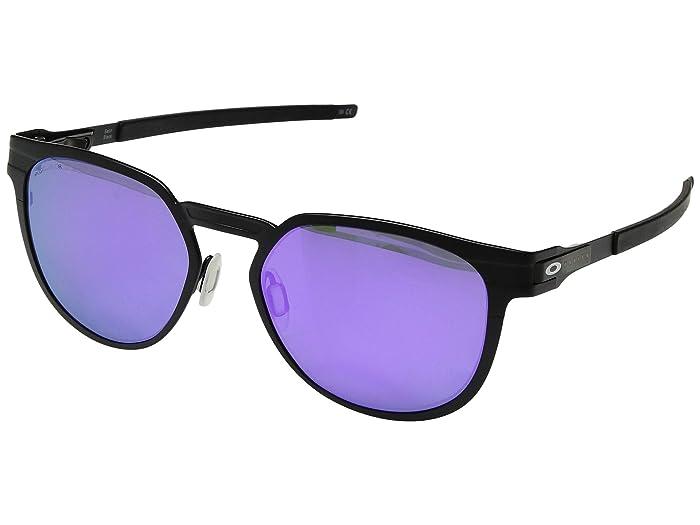 Oakley Diecutter (Satin Black/Violet Iridium Polarized) Sport Sunglasses