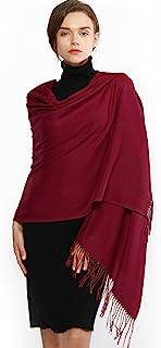 comprar comparacion RIIQIICHY Mujer Cachemira Bufanda Pashmina Chal Invierno Cálida Grande Larga Suave Manta para Mujeres