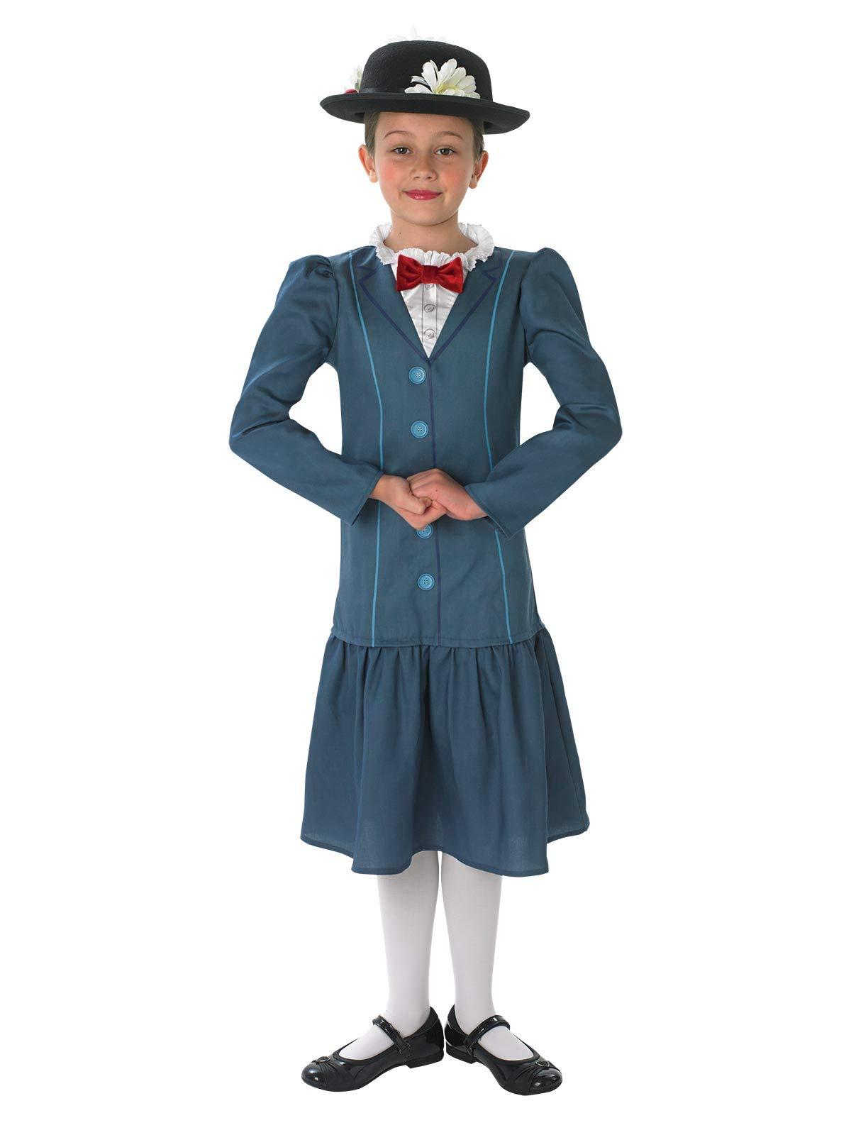 Rubies - Disfraz oficial de Mary Poppins con sombrero para niñas ...