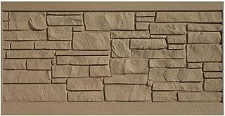 ecostone dark brown composite fence panel