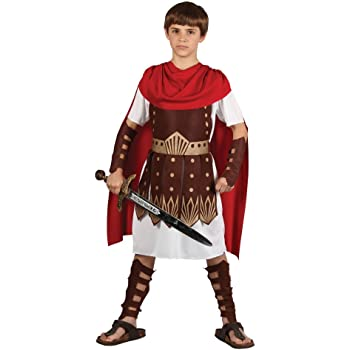 FANCY DRESS KIDS ROMAN SOLDIER WARRIOR FITS 4-12 YEAR OLD