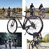 Wouke 26in Road Bike,700C Wheels 21 Speed Disc Brake Bicycle 26 Inch Wheels Road Bicycle Men Women Bikes Outdoor Sports (Black)