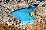 Rompecabezas para adultos Grecia Seitán Limania Playa Creta Rompecabezas Recuerdo de viaje de madera, 500 piezas 52 × 38 cm