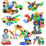 Jasonwell STEM Toys Building Blocks - 116PCS Educational Construction Tiles Set Engineering Kit Creative Activities Games Learning Gift for Toddlers Kids Ages 3 4 5 6 7 8 9 10 Year Old Boys Girls