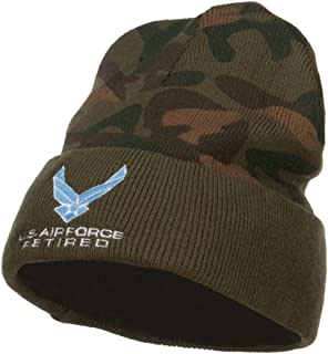 e4Hats.com US Air Force Retired Symbol Embroidered Camo Beanie