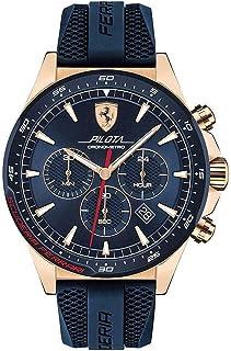 Ferrari Mens Quartz Watch, Chronograph Display and Silicone Strap 830621