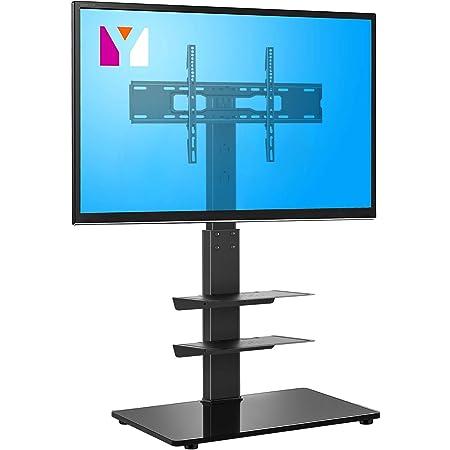 "Sturdy Floor TV Stand Corner Mount Shelves 32~65/"" Home Office TV Panel Support"