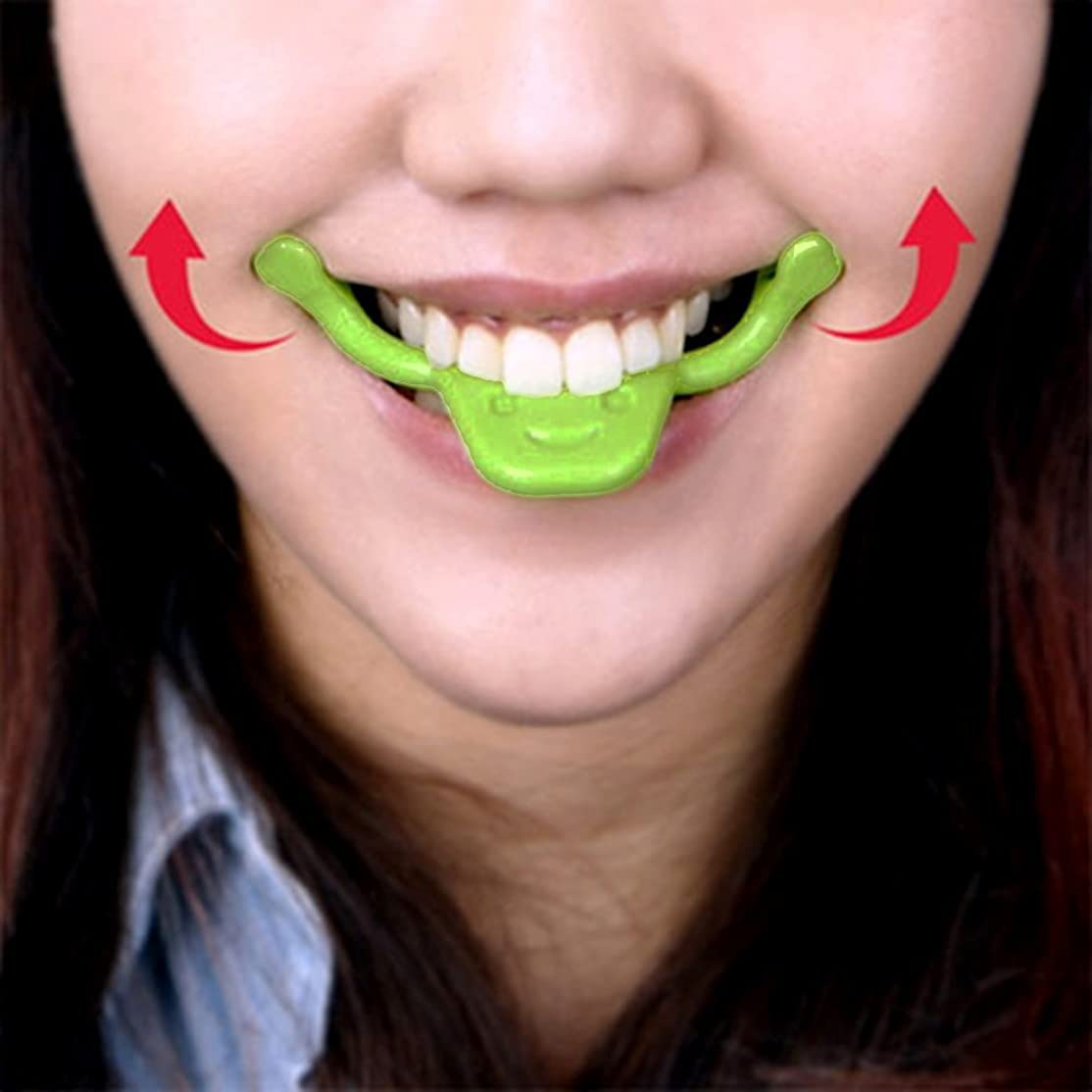 りんごおっとクリック表情筋 トレーニング 小顔 ストレッチ ほうれい線 二重 あご 消す 口角を上げるグッズ 美顔 顔痩せ リフトアップ マウスピース フェイシャルフィットネス (タイプ2)