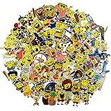 100 Pcs Spongebob Cartoon Vinyl Stickers for...