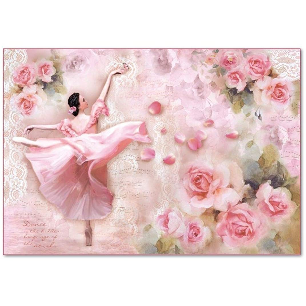 Stamperia Decoupage Rice Paper 48x33 Dancer with petals