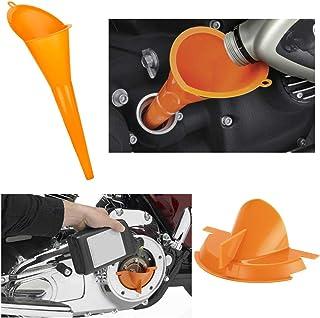 Fancytimes Conjunto de enchimento de funil principal para motocicleta de 22,86 cm para Harley OrangeFancytimes laranja OF03
