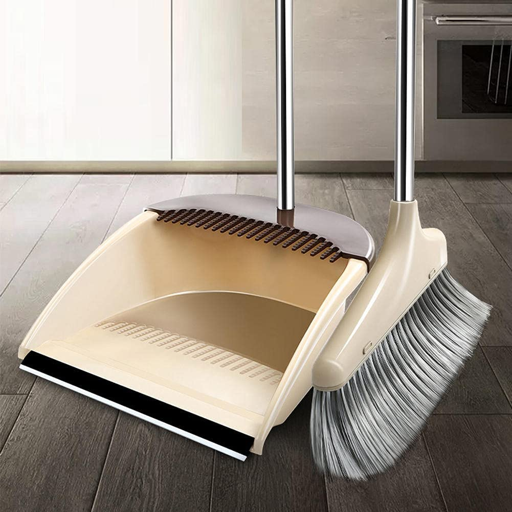 BAWAQAF Nippon regular agency Broom and Dustpan Ranking TOP1 Set for Br Home Soft Bristle Removable
