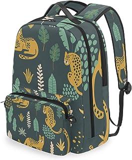Mochila con Bolsa Cruzada Desmontable, con diseño de Leopardo, Mochila de computadora para Viajes, Senderismo, Acampada