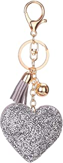 Luxurious BZ446 Heart Shape Keychain Women Key Ring Handbag Pendant Charming Bag Chain Bag Jewelry Fashion Birthday Gift
