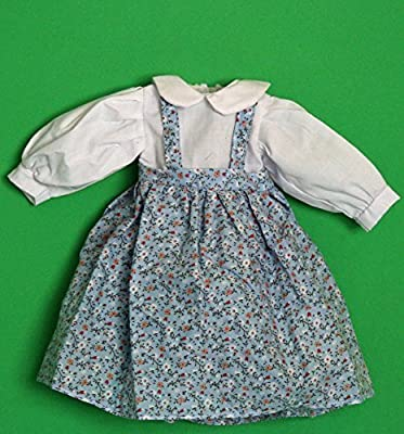 Porcelain Doll Coton Dress Collar W. 5 cm, Shoulder W. 9 cm, Sleeve L. 12 cm, Cuffs W. 3 cm, Bust W. 9 cm, Waist 10 cm, Overall L. 22 cm.,May Fit 14-16 Doll by Joiner Co.