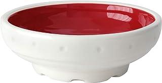 Cuenco multiuso, Disponible en más colores, Cerámica artesanal, Diseño mecánico - h 3,5 x Ø 10,7cm (Rojo)