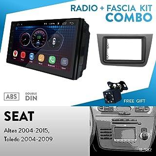 Façade Radio Set pour Seat Altea Toledo 5p 2004-2009 2din CANBUS Anthracite