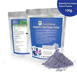Butterfly Pea Flower Extract - Bionutricia Extract Natural Asian Gourmet Standardized Fresh Beverage or Bakery Ingredient, Natural Flavor, Natural Color, Phytonutrient of Powder (100g)