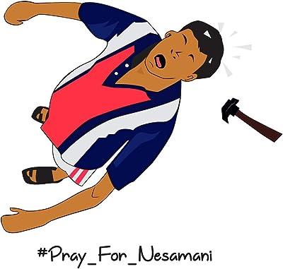 Wallstick Pray for nesamani wallstickers (Vinyl 55 cm x 50 cm)