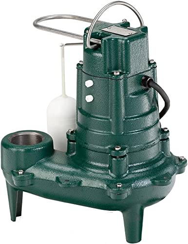 lowest Zoeller Waste-Mate 267-0006 Sewage Pump, 1/2 HP Automatic wholesale – Heavy-Duty Submersible Sewage, Effluent discount or Dewatering Pump - includes 25 foot cord outlet online sale