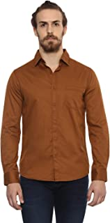 Mufti Plain Mud Shirt with Full Sleeves